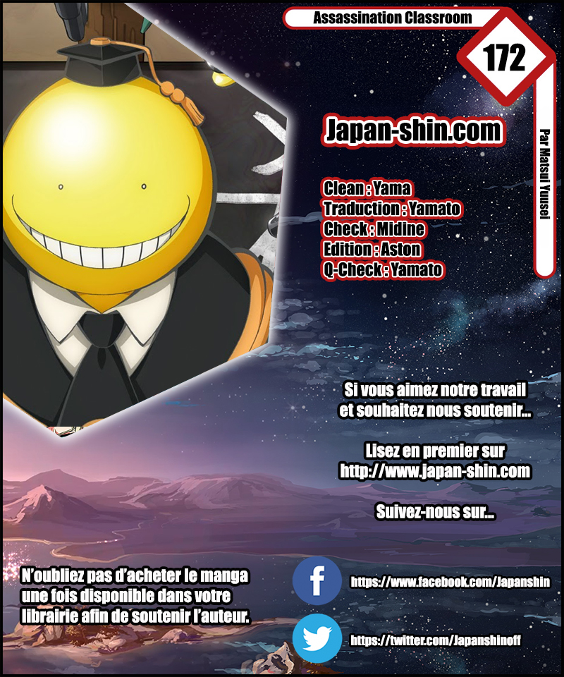 Lecture en ligne Assassination Classroom 172 page 1