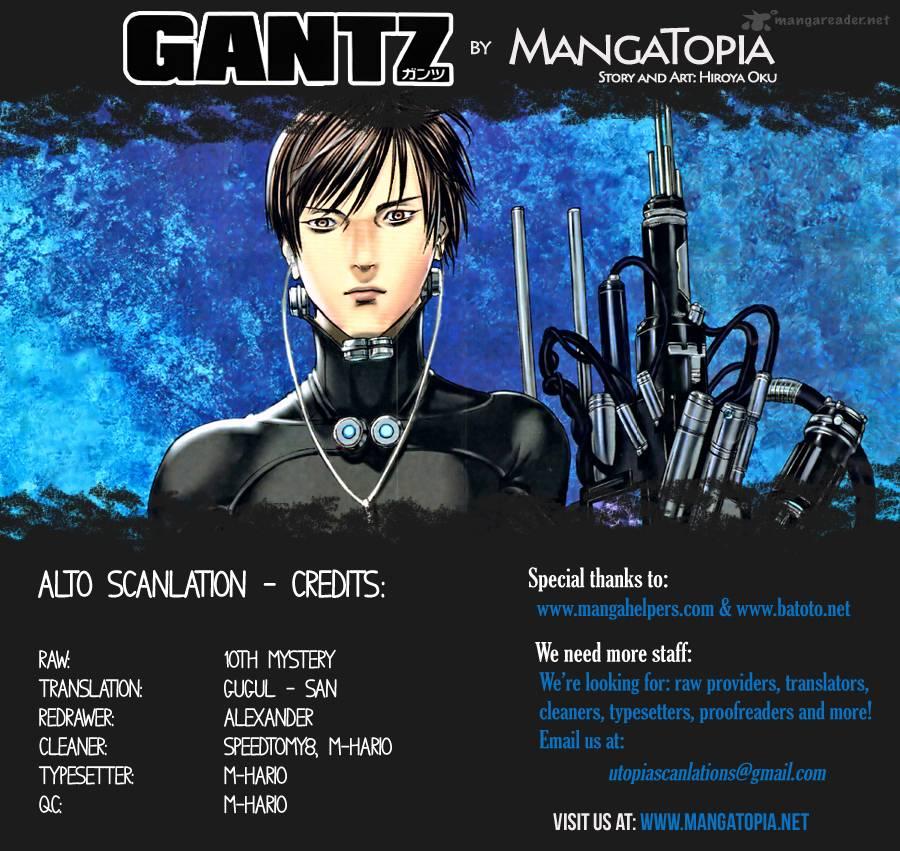 Lecture en ligne Gantz 383 page 1