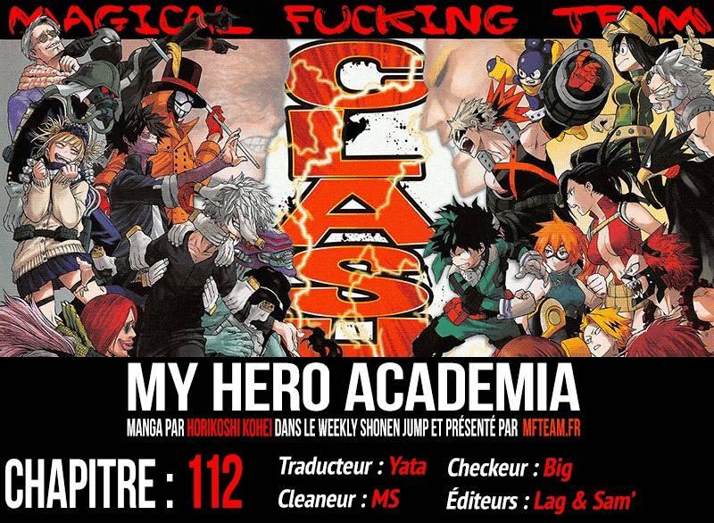 Lecture en ligne My Hero Academia 112 page 1