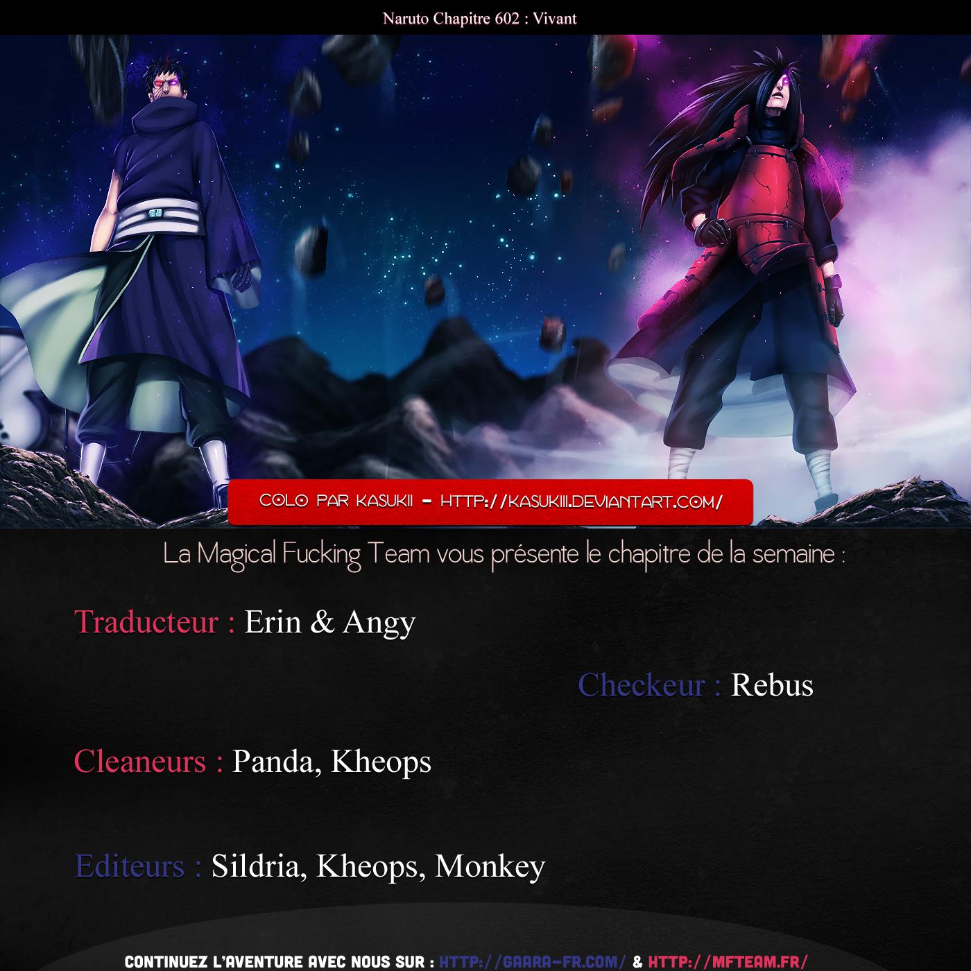Lecture en ligne Naruto 602 page 1