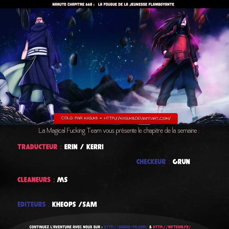 Lecture en ligne Naruto 668 page 1