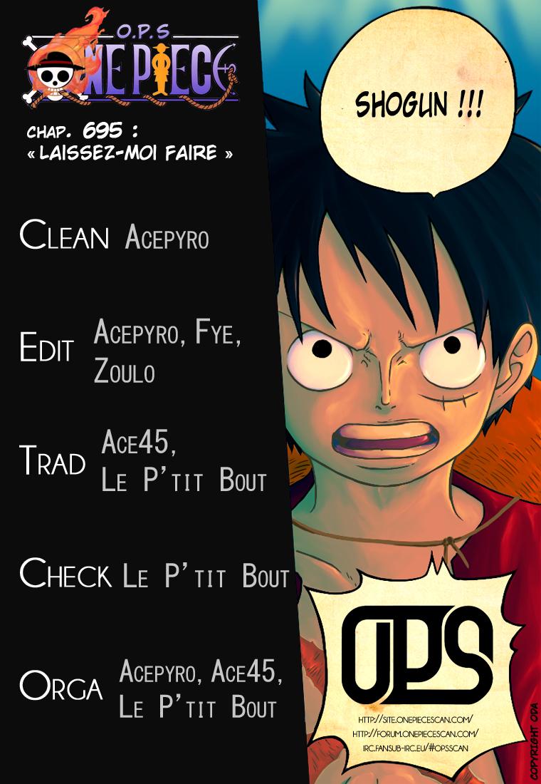 Lecture en ligne One Piece 695 page 1