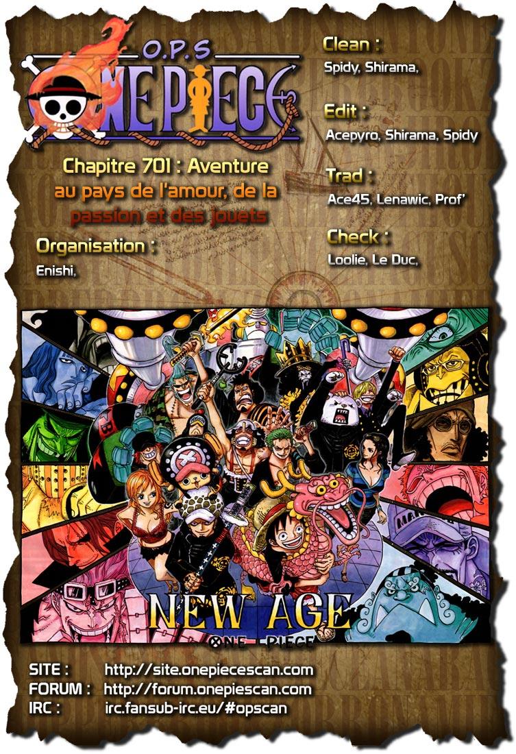 Lecture en ligne One Piece 701 page 1