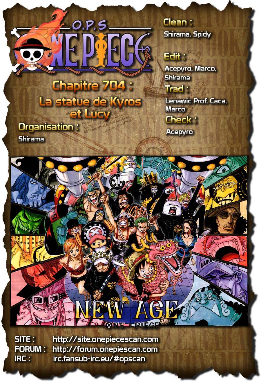 Lecture en ligne One Piece 704 page 1