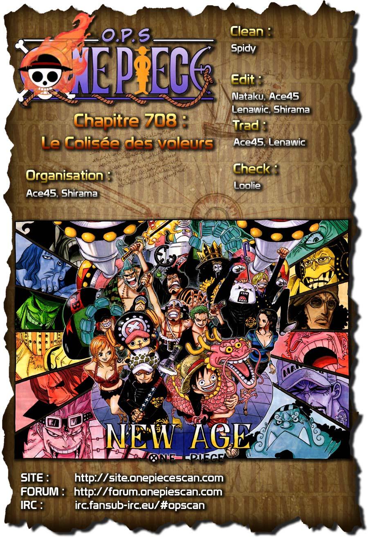 Lecture en ligne One Piece 708 page 1