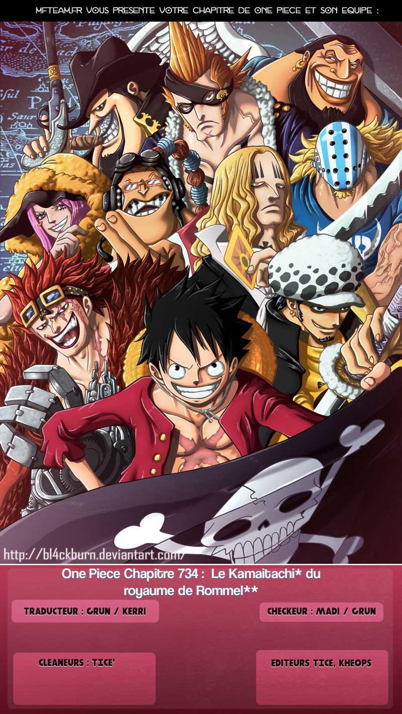 Lecture en ligne One Piece 734 page 1