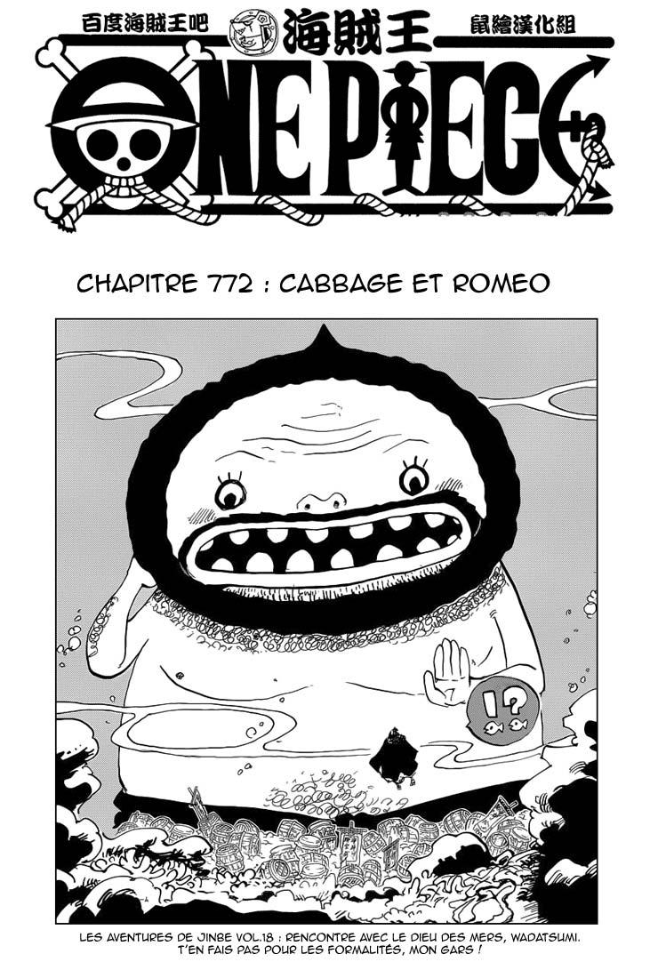 One Piece - Chapitre 772: Cabbage & Romeo 01