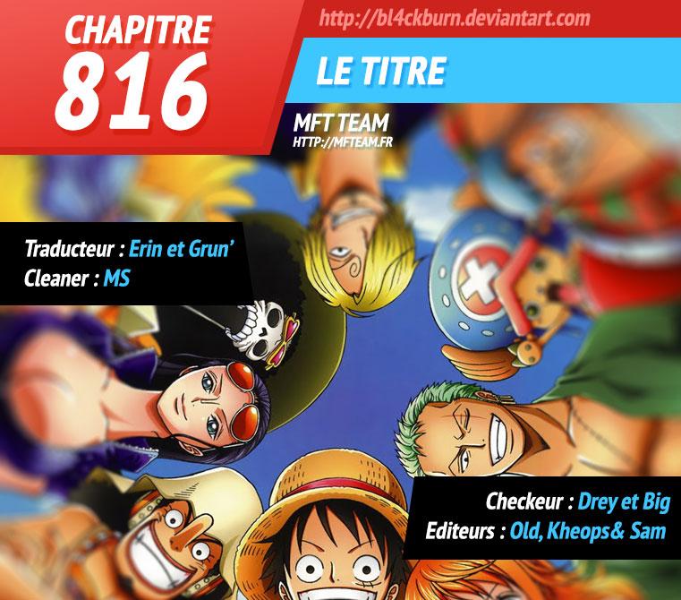 Lecture en ligne One Piece 816 page 1