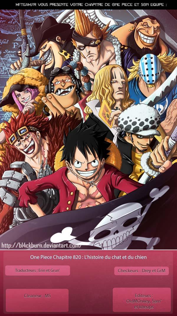 Lecture en ligne One Piece 820 page 1