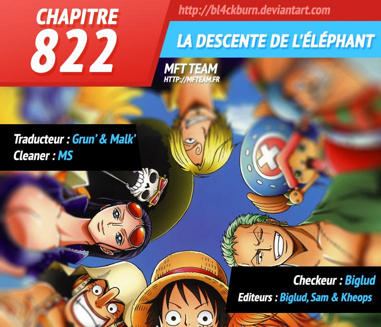 Lecture en ligne One Piece 822 page 1