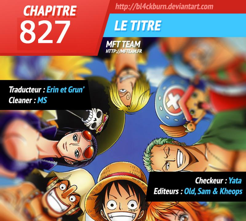 Lecture en ligne One Piece 827 page 1
