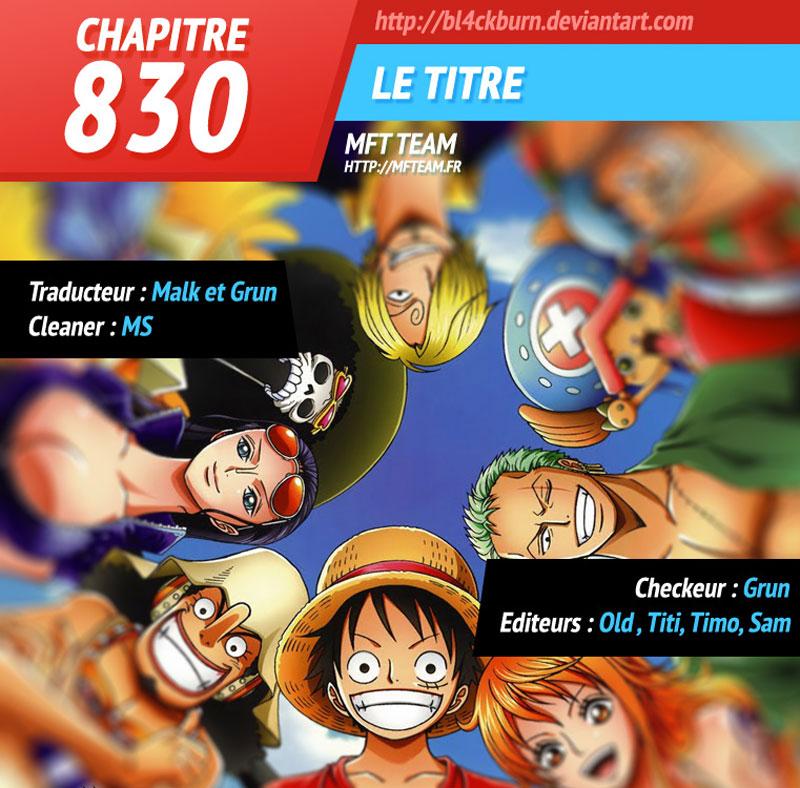 Lecture en ligne One Piece 830 page 1