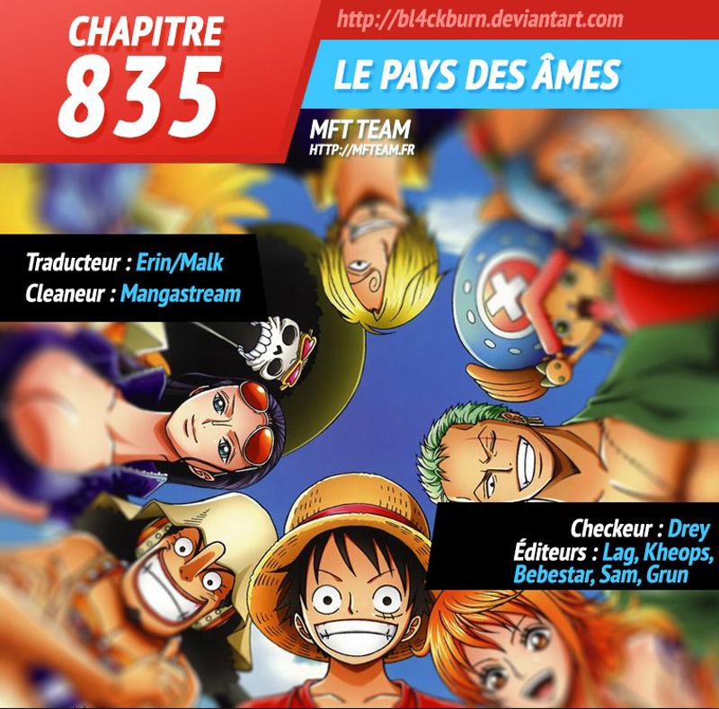 Lecture en ligne One Piece 835 page 1