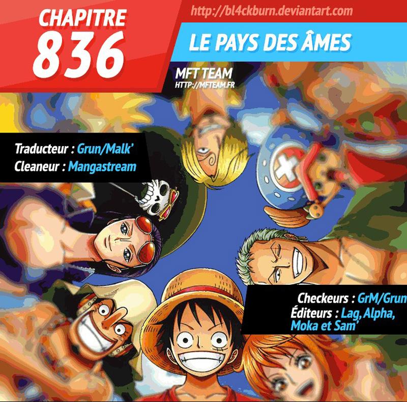 Lecture en ligne One Piece 836 page 1