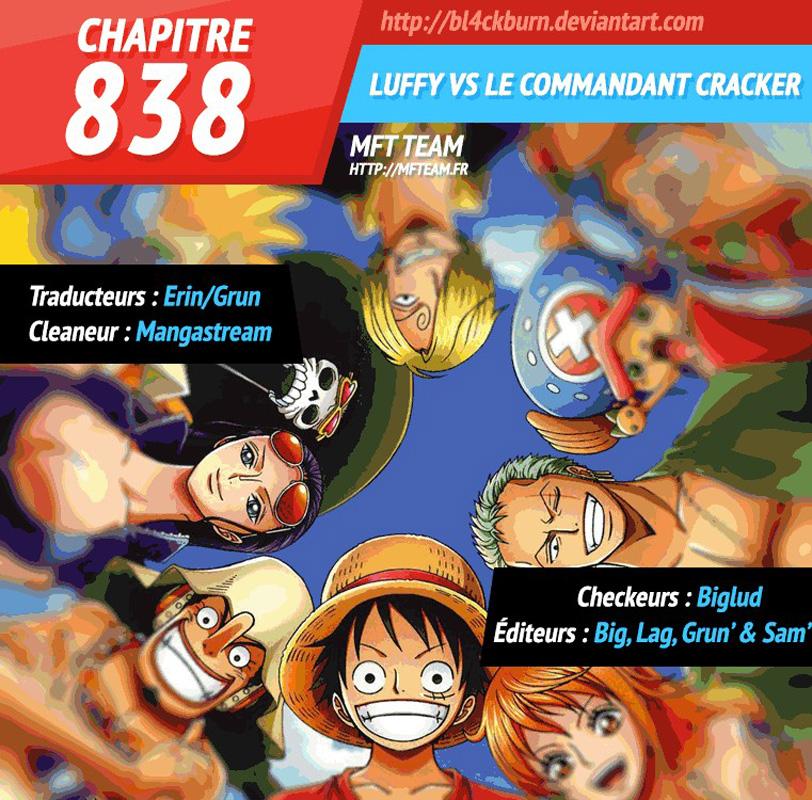 Lecture en ligne One Piece 838 page 1