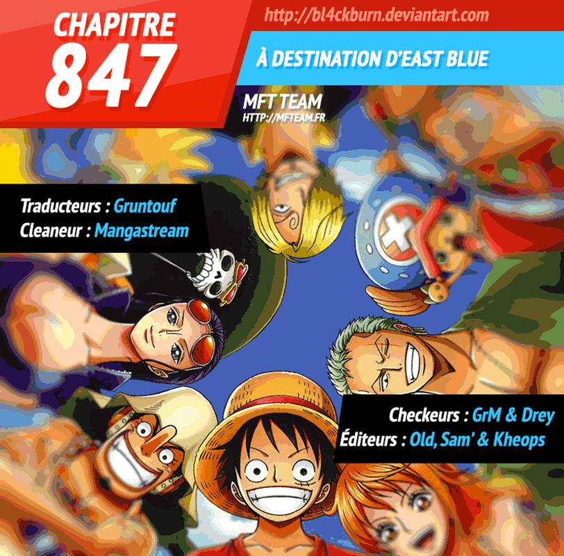 Lecture en ligne One Piece 847 page 1