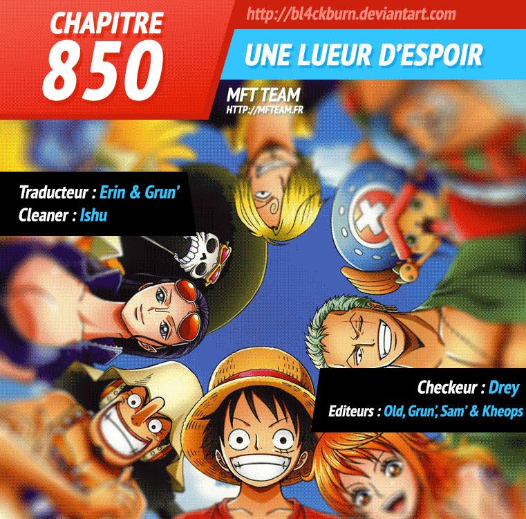 Lecture en ligne One Piece 850 page 1