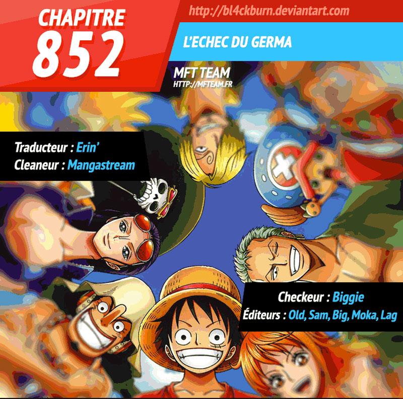 Lecture en ligne One Piece 852 page 1