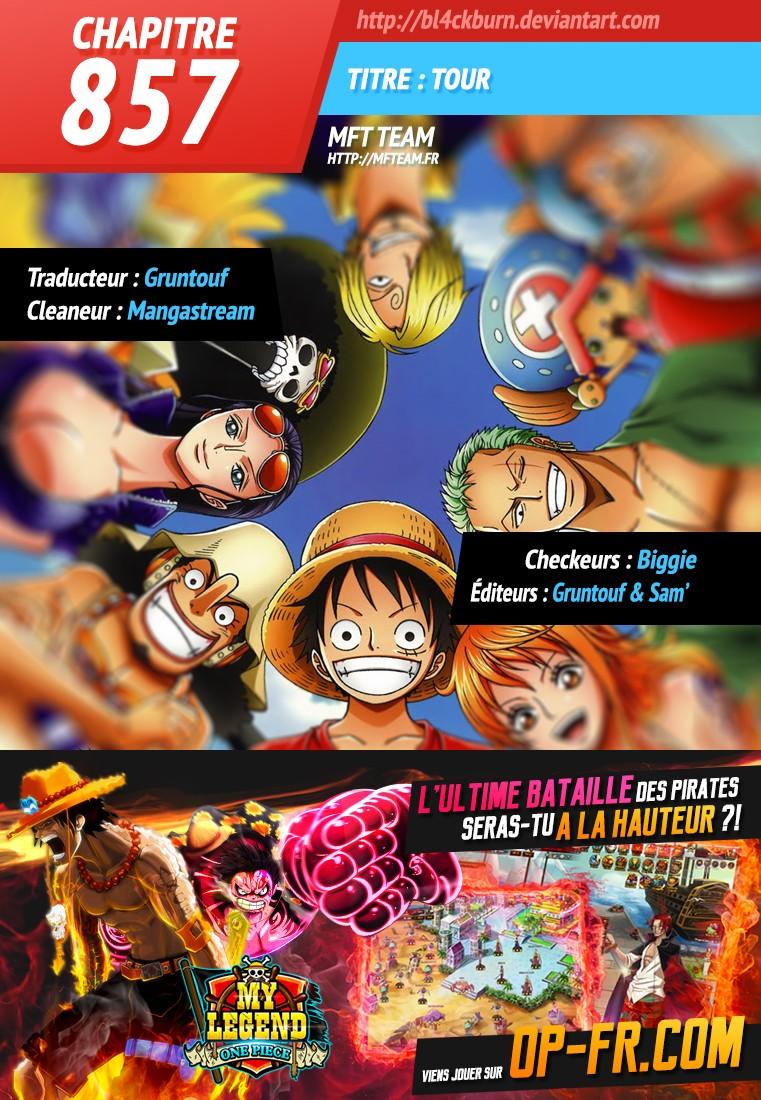 Lecture en ligne One Piece 857 page 1