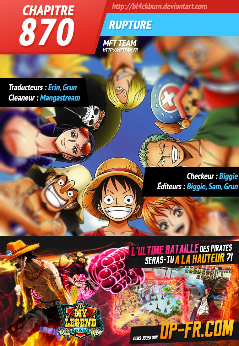 Lecture en ligne One Piece 870 page 1