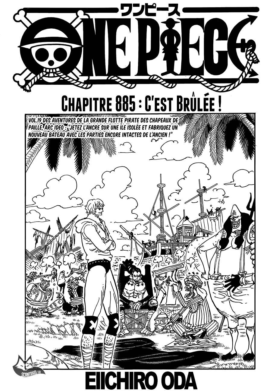 Lecture en ligne One Piece 885 page 1