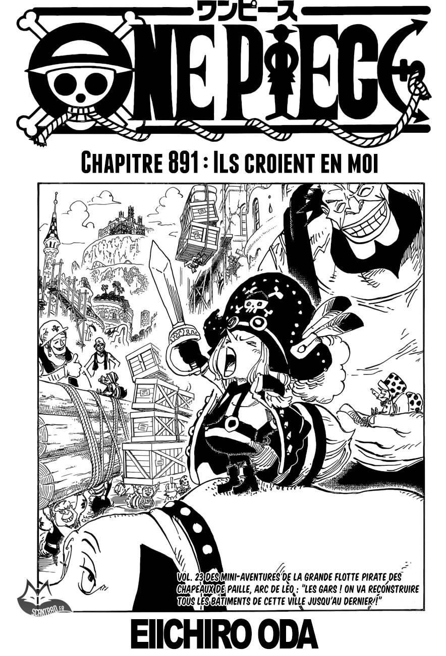 Lecture en ligne One Piece 891 page 1