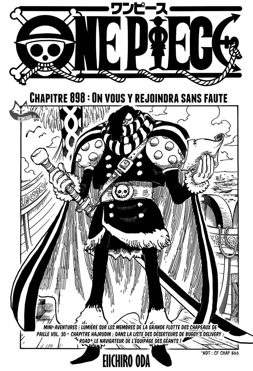 Lecture en ligne One Piece 898 page 1