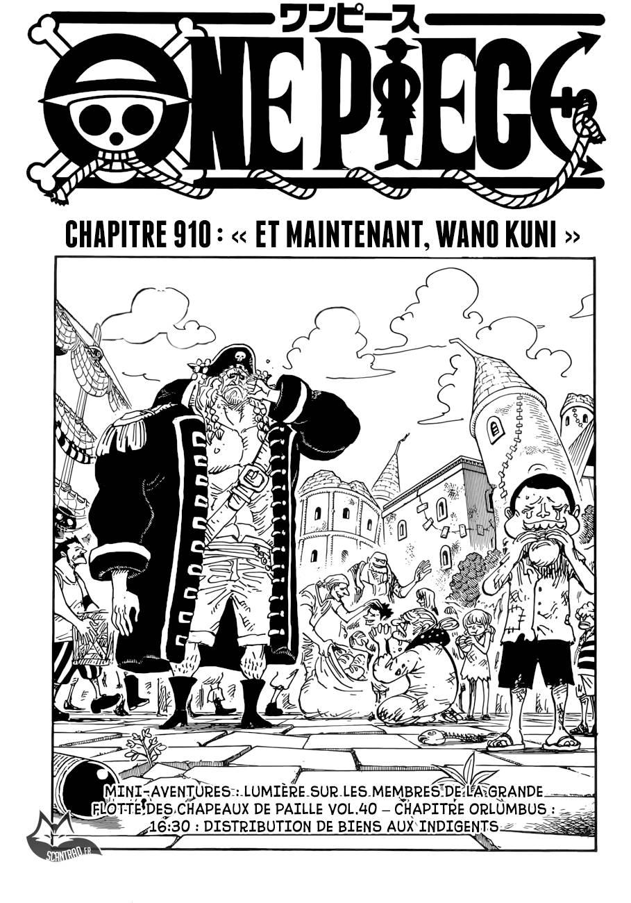 Lecture en ligne One Piece 910 page 1