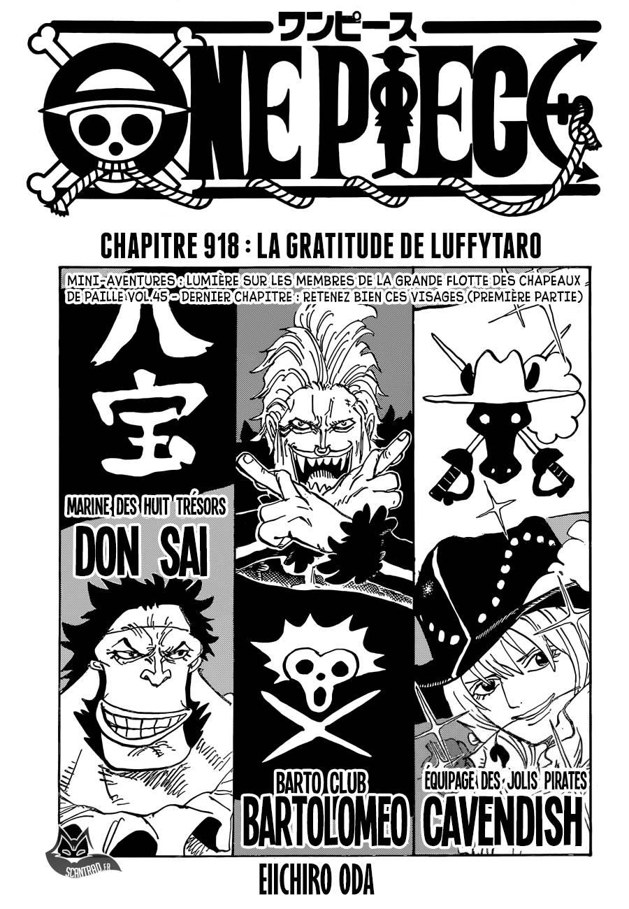 Lecture en ligne One Piece 918 page 1