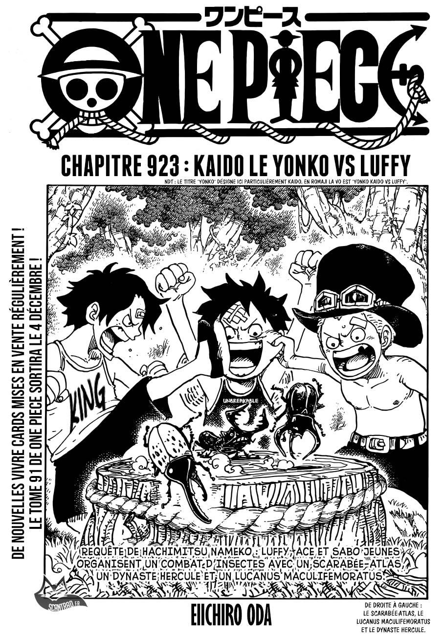 Lecture en ligne One Piece 923 page 1