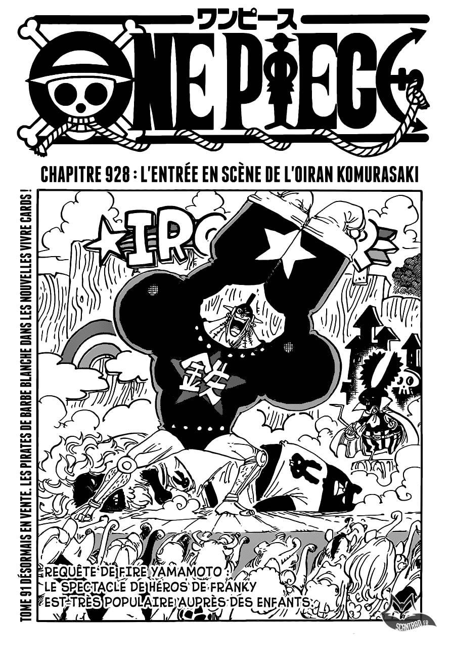 Lecture en ligne One Piece 928 page 1
