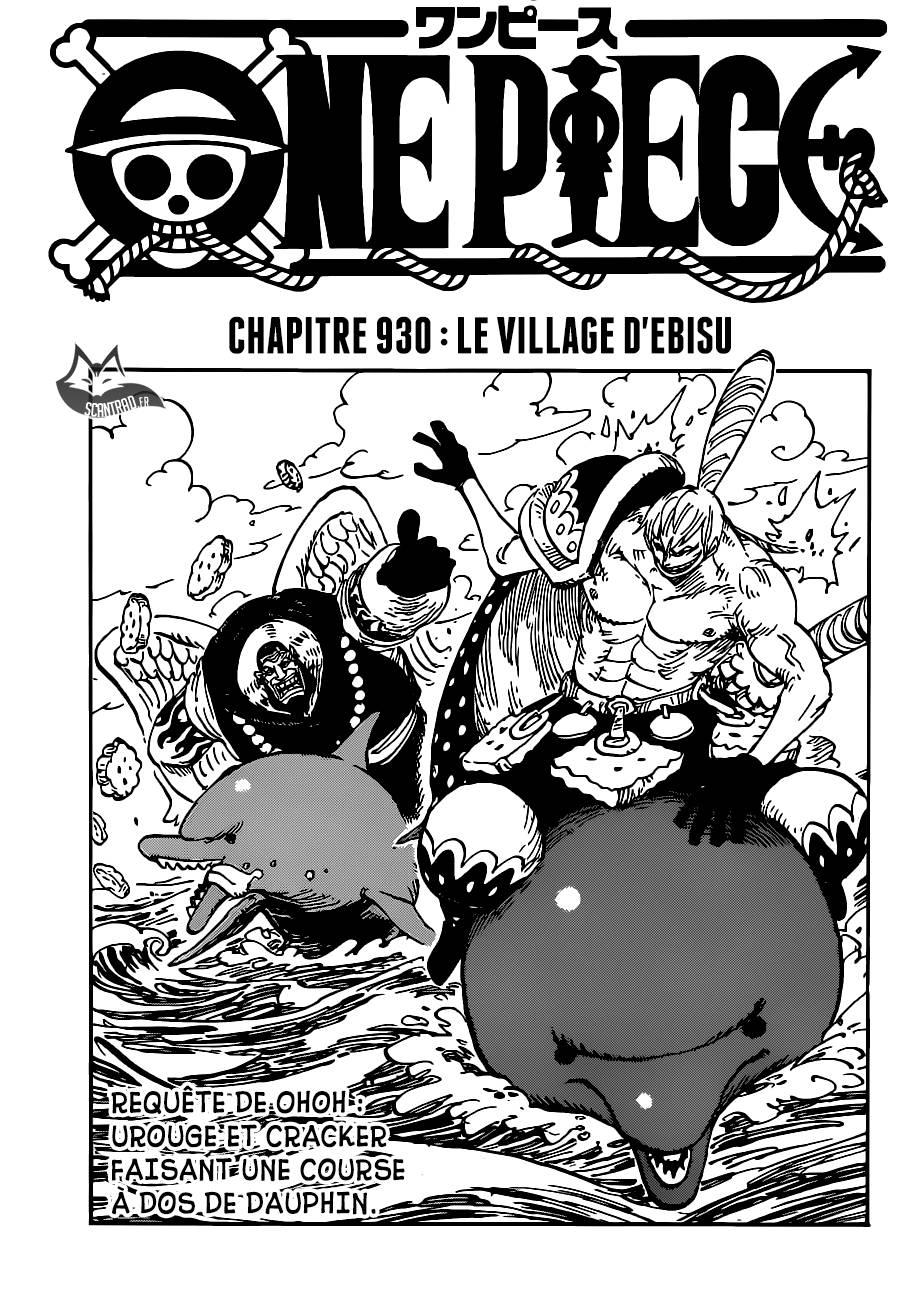 Lecture en ligne One Piece 930 page 1