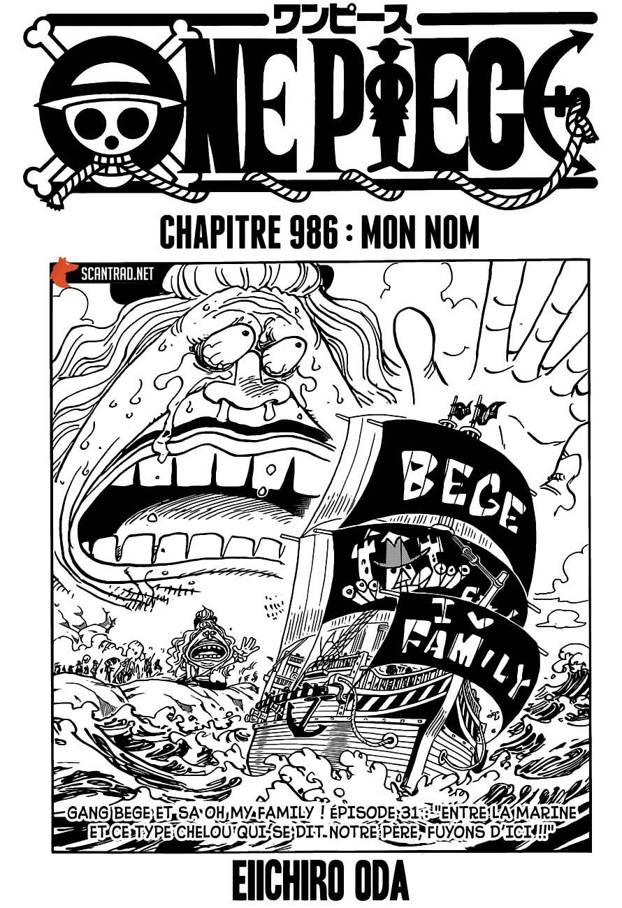 Lecture en ligne One Piece 986 page 1
