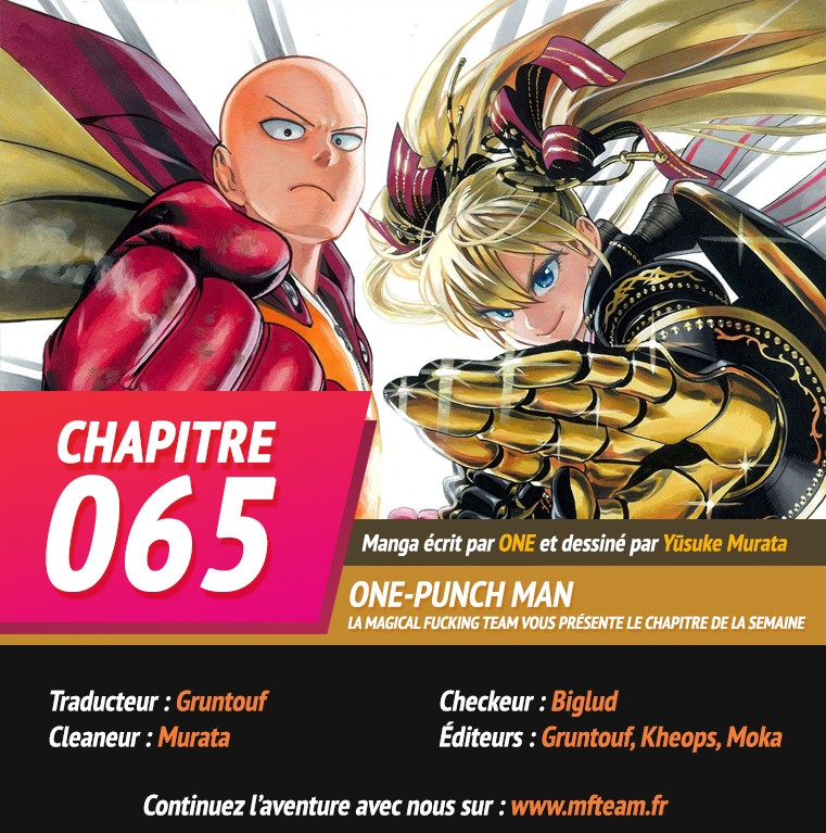 Lecture en ligne One Punch Man 65 page 1