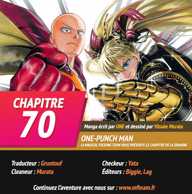 Lecture en ligne One Punch Man 70 page 1