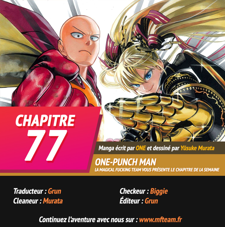 Lecture en ligne One Punch Man 77 page 1