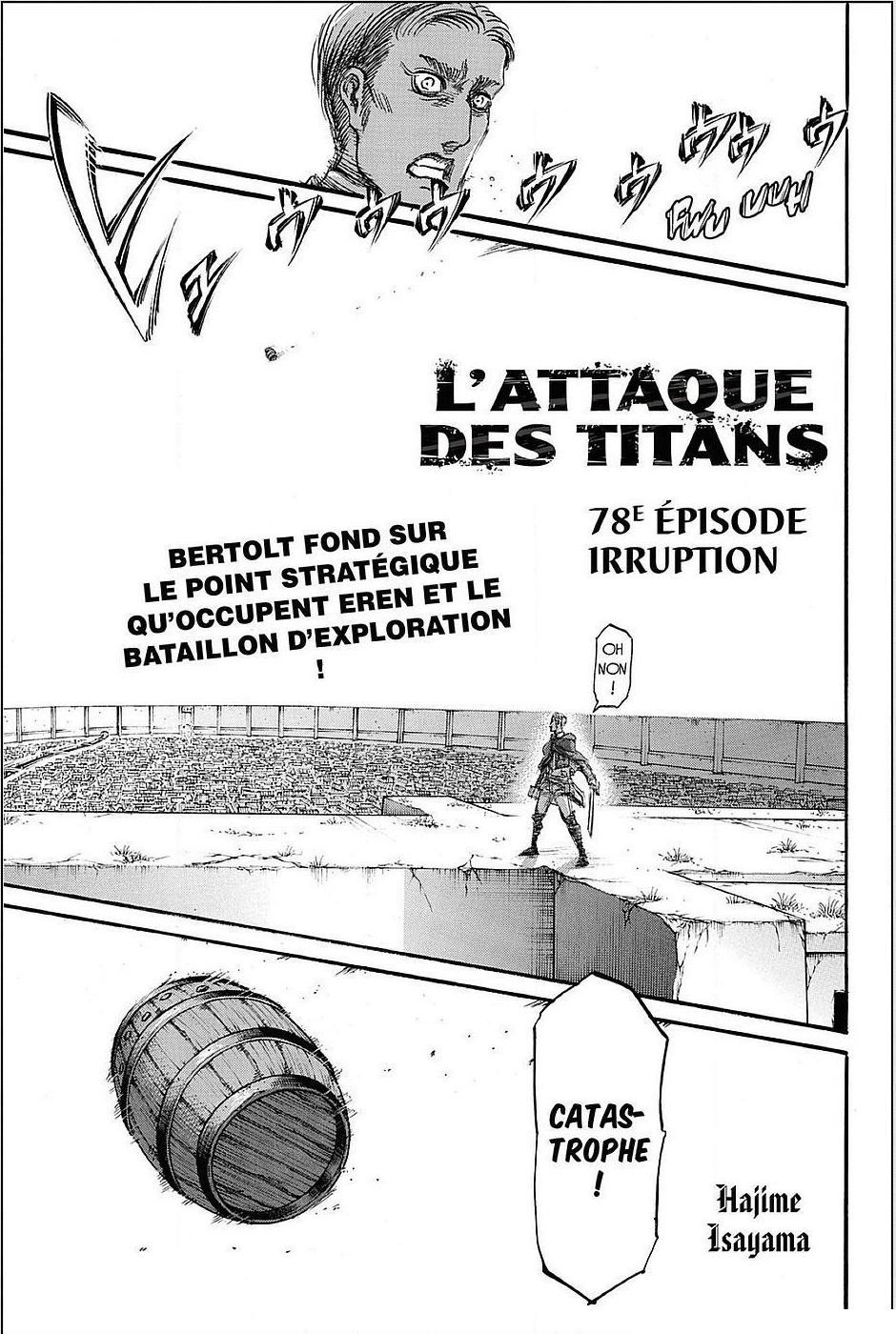 Lecture en ligne Shingeki No Kyojin 78 page 1
