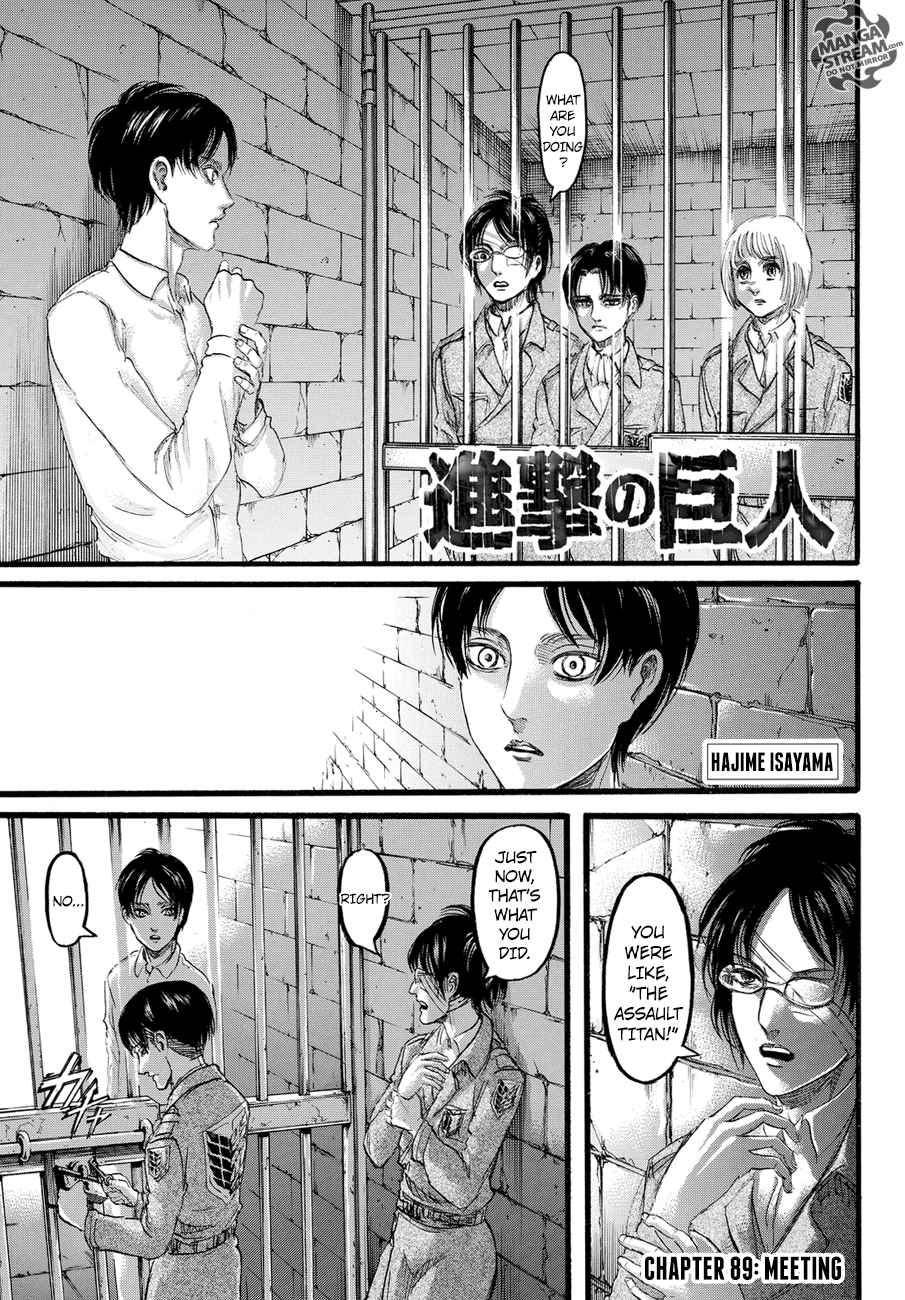 Lecture en ligne Shingeki No Kyojin 89 page 1