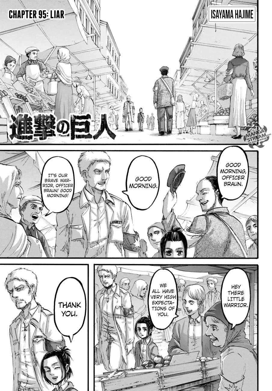 Lecture en ligne Shingeki No Kyojin 95 page 1
